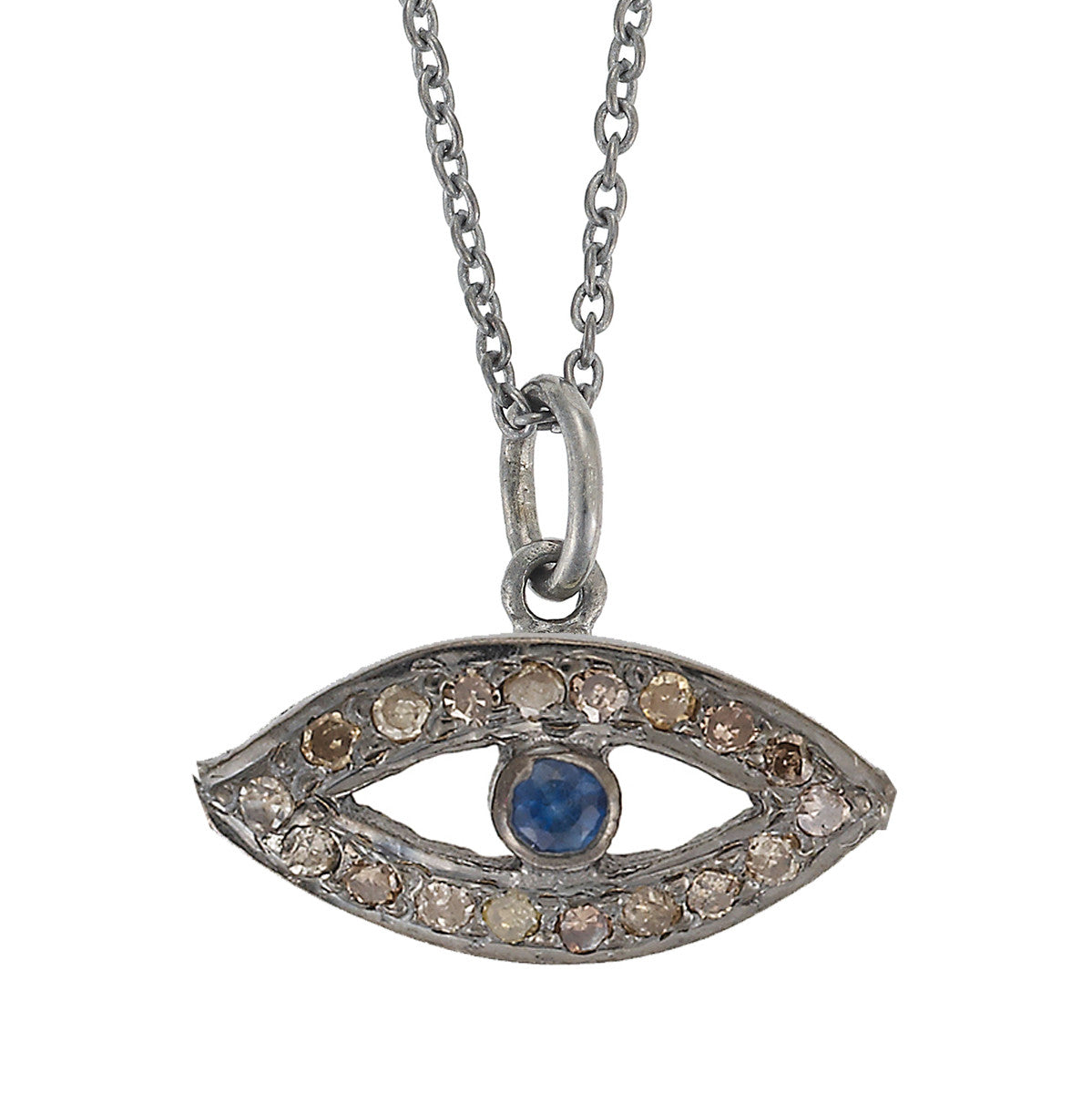 Small Eye Necklace - Blue Sapphire