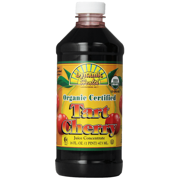 Dynamic Health 100% Pure Organic Certified Tart Cherry Juice Concentrate 16-Ounce