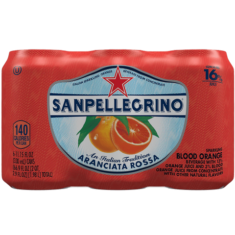 San Pellegrino Sparkling Fruit Beverages Aranciata Rossa-Blood Orange