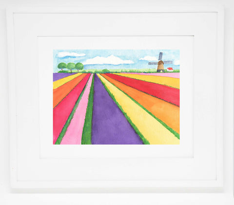 The Tulip Farm art print -- 11x14