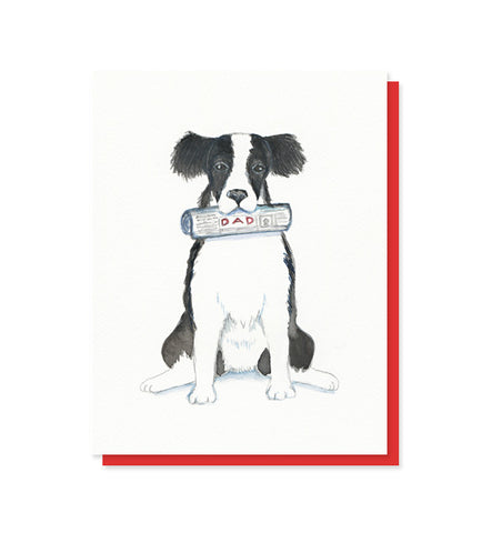 Dog With Newspaper Dad Father's Day Card