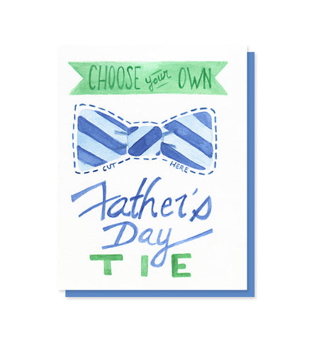 Choose Your Own Tie Father's Day Trifold Card