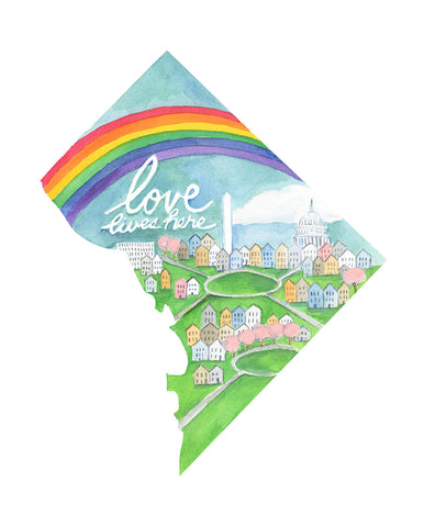 Love Lives Here D.C. 8x10 art print