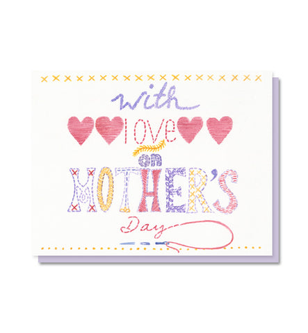 Happy Mother's Day Embroidery Card