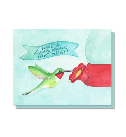 Super Sweet Hummingbird Birthday Card