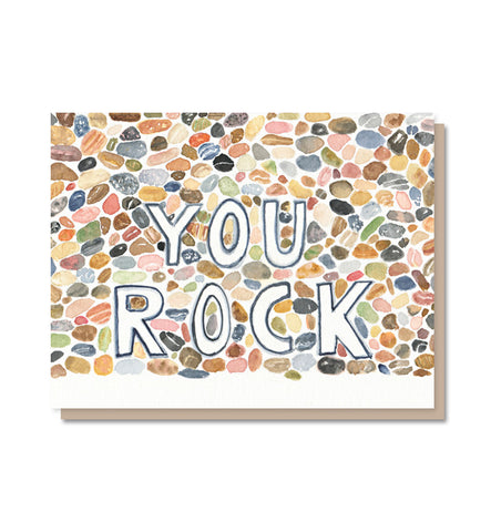 You Rock!  Congratulations, Support, Thank You Card