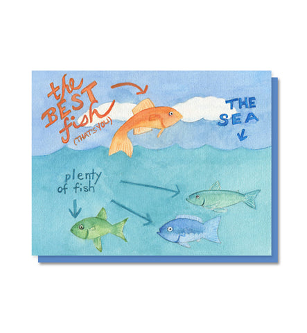 The Best Fish love, friendship, anniversary card
