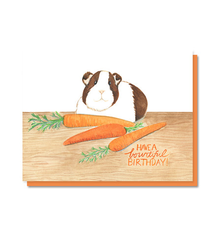 Bountiful Birthday Guinea Pig Card