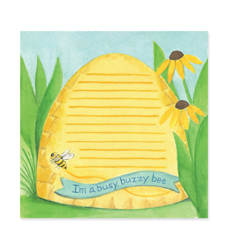 Busy Buzzy Bee 6x6 Notepad