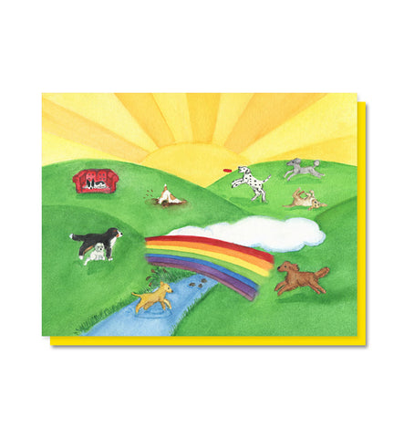 The Rainbow Bridge: Dog/Pet Loss Sympathy Card