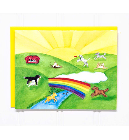 The Rainbow Bridge: Dog/Pet Loss Sympathy Card-20 COUNT