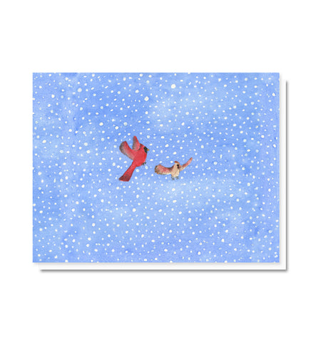 Dashing Through the Snow Cardinals Blank Note