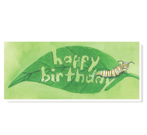 #9 Caterpillar Wishes Birthday Card