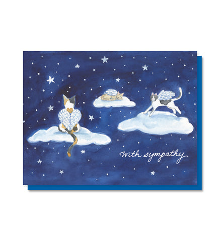 Cat Heaven Pet Sympathy Card