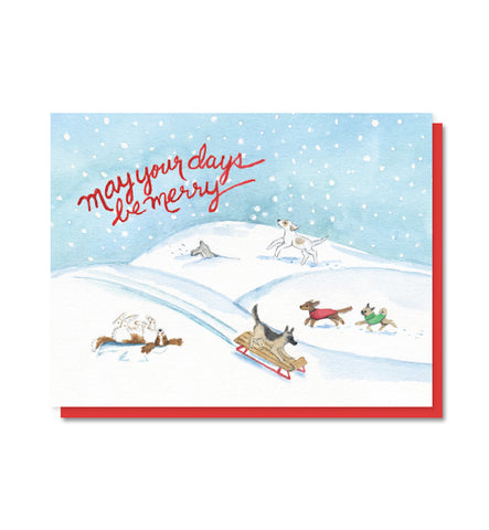 Merry Dogs Christmas Card - Boxed Set of 8