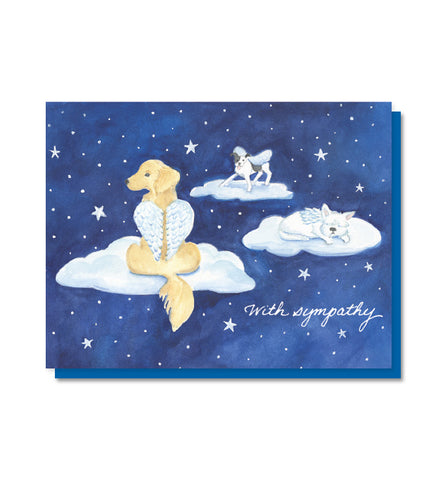 Dog Heaven Pet Sympathy Card
