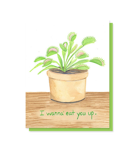 Eat You Up Venus Flytrap Love Card