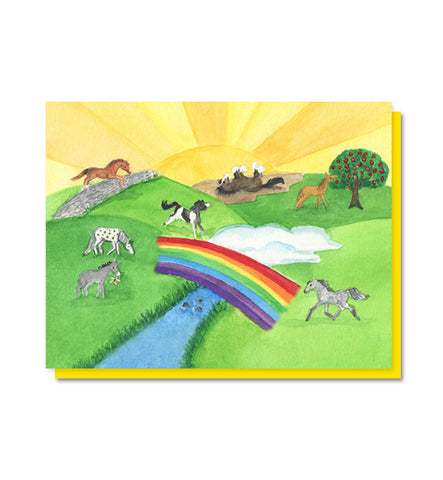 The Rainbow Bridge:  Horse/Pet Loss Sympathy Card