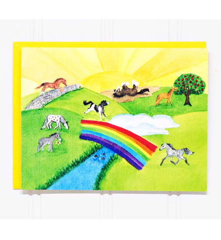 The Rainbow Bridge:  Horse/Pet Loss Sympathy Card-20 COUNT