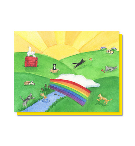 The Rainbow Bridge: Cat/Pet Loss Sympathy Card