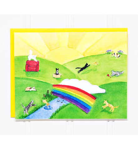 The Rainbow Bridge: Cat/Pet Loss Sympathy Card-20 COUNT