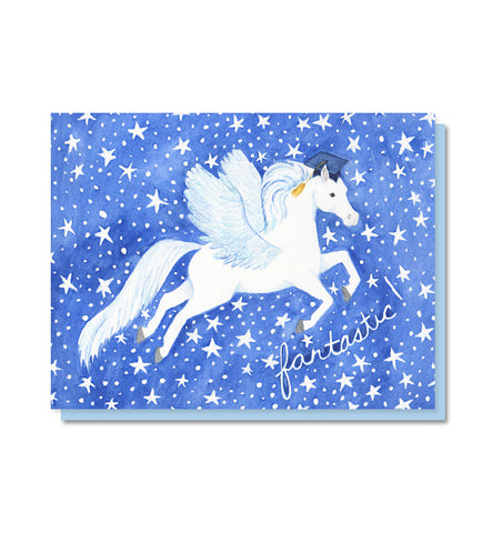 Fantastic Pegasus Graduation Card
