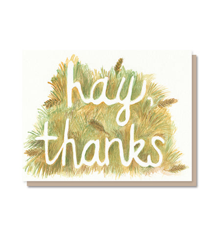 Hay, thanks!  Thank You Card