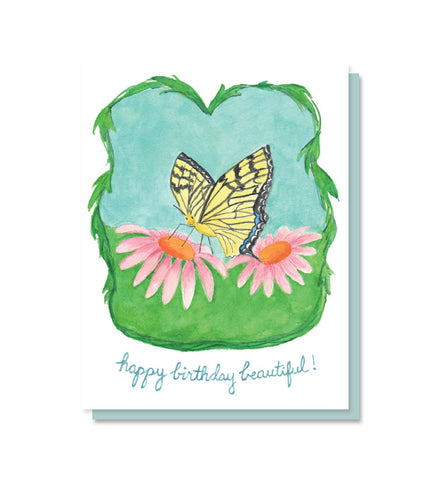 Happy Birthday Beautiful Butterfly Card