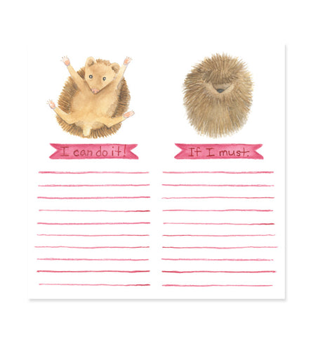 Motivational Hedgehog 6x6 Notepad