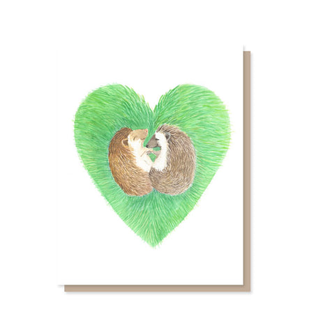 Hedgie Hugs Love Card