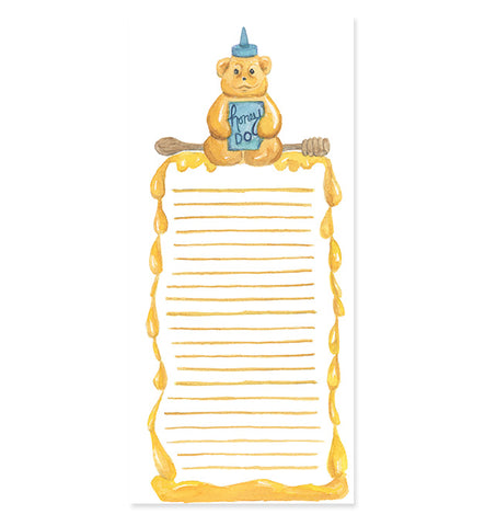 Honey Do Honey Bear 4x9 notepad