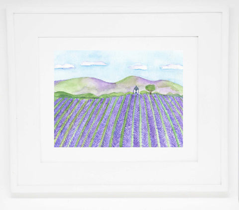 The Lavender Field art print -- 8x10