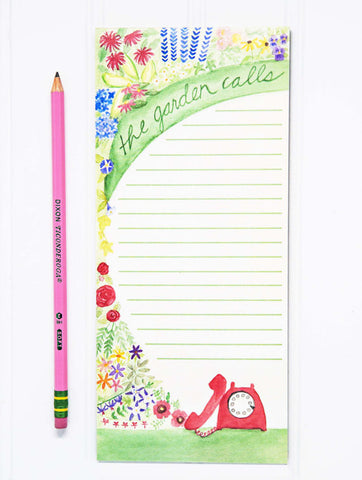 "The Garden Calls gardener's notepad 4"" x 9"""