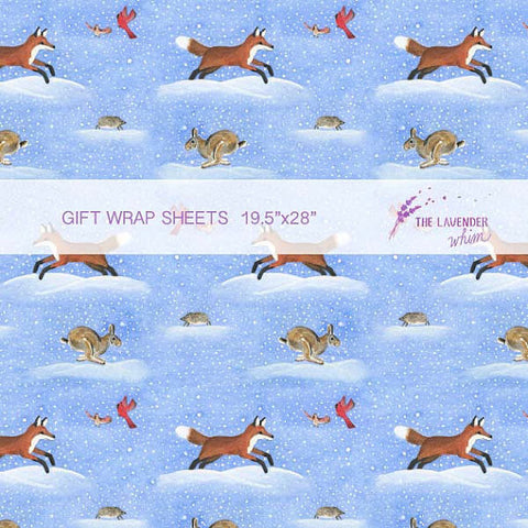 "Dashing Through the Snow 19.5""x28"" gift wrap sheets"