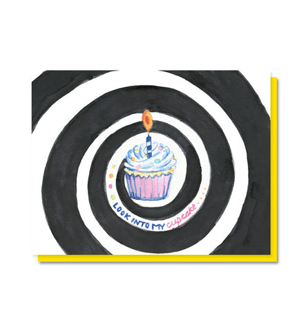 Look Into My Cupcake Birthday Card