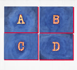 DISCONTINUED Marquee Letter Monogram Notecards - Set of 8