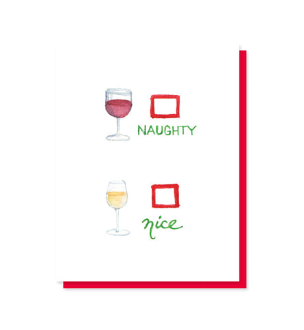 Naughty/Nice Wine Holiday Card