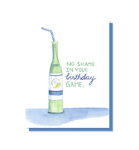 No Shame Wine Birthday Card