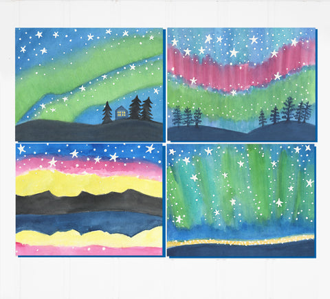 Northern Lights: notecard boxed set, 8 cards