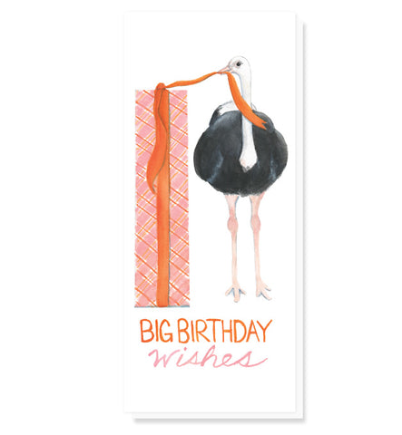 #9 Ostrich Big Wishes Birthday Card