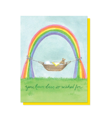 Rainbow Baby Congratulations Card for Birth & Adoption