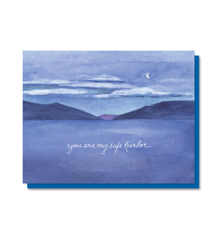 You Are My Safe Harbor Love & Friendship Card