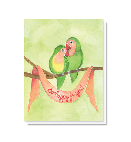 Lovebirds Engagement & Wedding Card