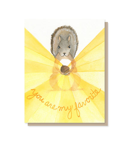 You Are My Favorite (Nut?) Love & Friendship Card