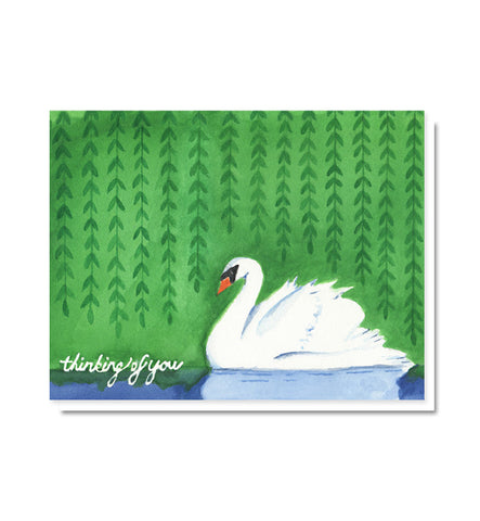 Peaceful Swan Thinking of You Card