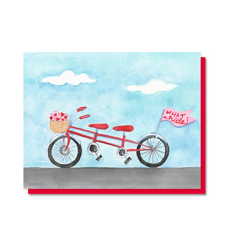 What a Ride!  Bicycle Love Card