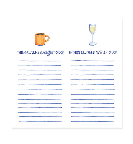Coffee and Wine 6x6 Notepad