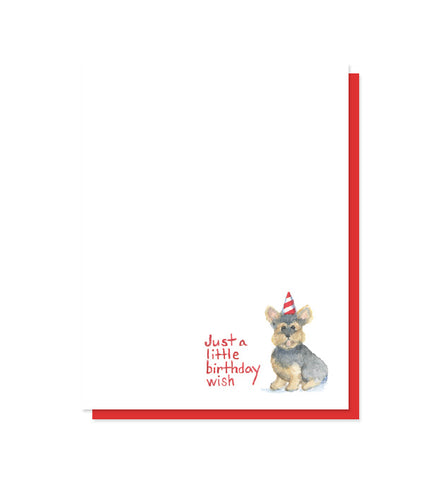 Just a Little Birthday Wish Yorkie Card