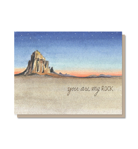 You Are My Rock Love & Friendship Card