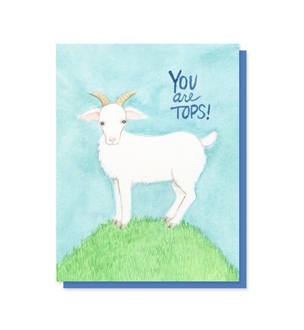 You Are Tops Billy Goat Card